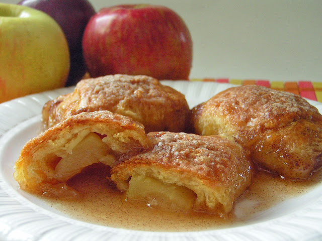 Country Apple Dumplings from Crescent Rolls: Butter with a Side of Bread